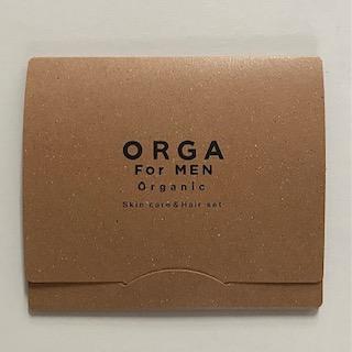 <メンズ オーガニック化粧品><br>ORGA 台紙3点セット