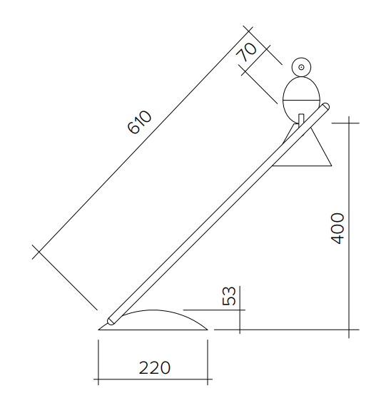 ARETI/Alouette slantedデスクライト