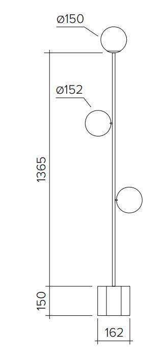 ARETI/Platesフロアライト