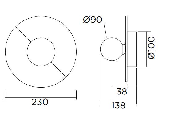 ARETI/Disc and Sphere revisitedシーリングライト