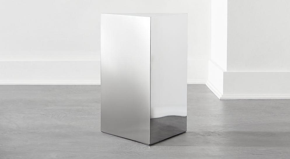 SELECTED BY MUSE/ポリッシュシルバーサイドテーブル