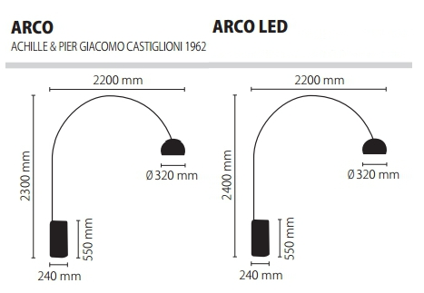 Flos/フロス/ARCOアルコライト