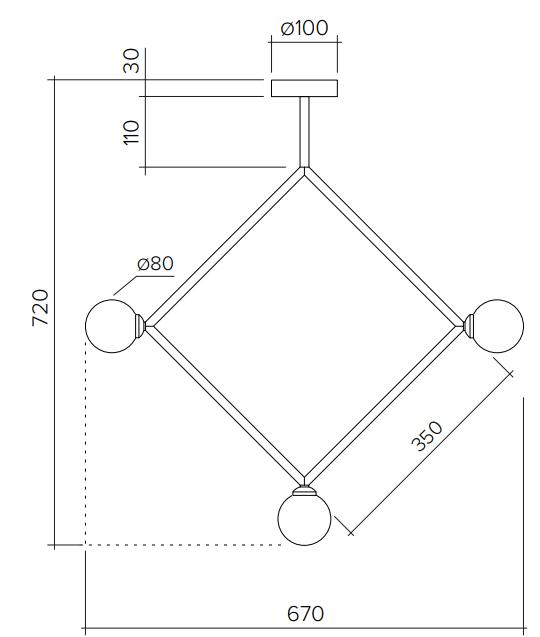 ARETI/Rhombusシーリングライト