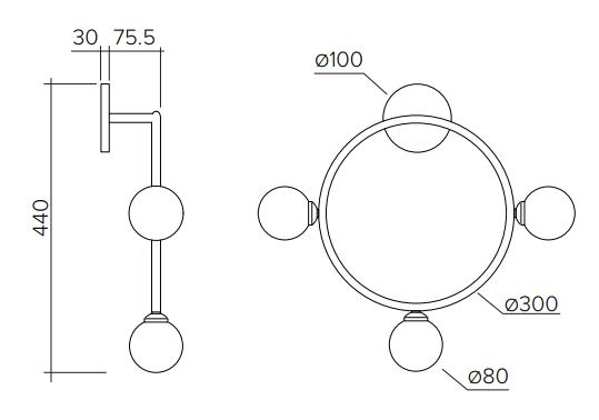 ARETI/Circleウォールライト