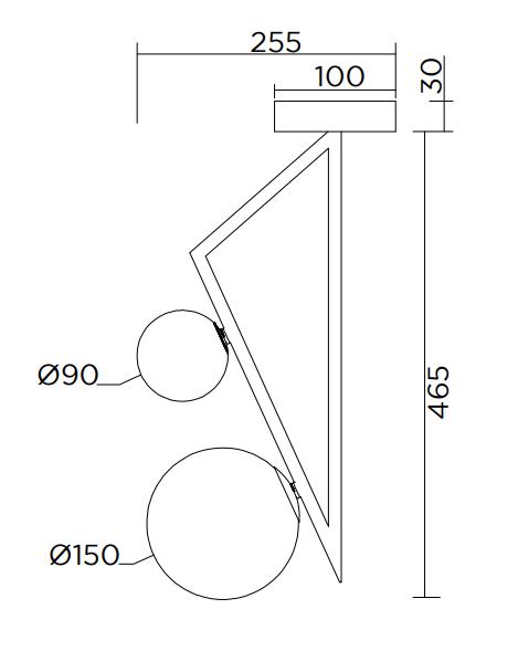 ARETI/TRIANGLE AND GLOBE 04シーリングライト