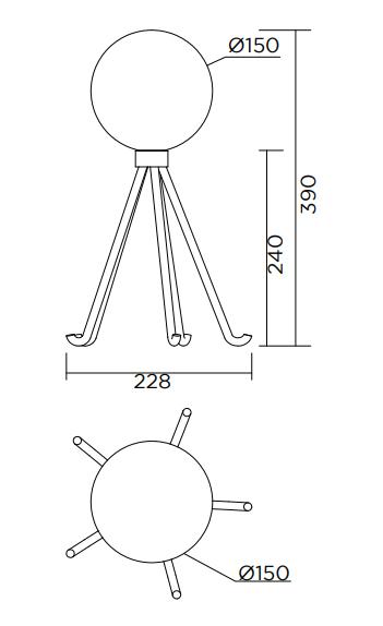 ARETI/Octopusテーブルライト