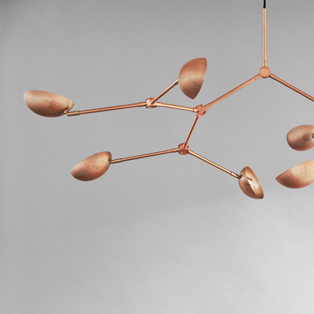 101 COPENHAGEN/Drop Chandelier Perforated Rose Metalシャンデリア