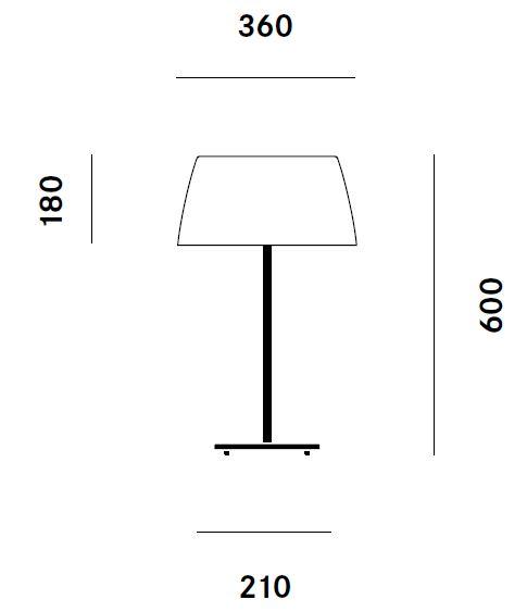 Prandina/Gingerテーブルライト