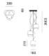 Prandina/GONG S1 3Rペンダントライト