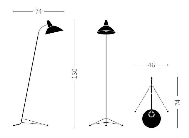 Warm Nordic/ウォームノルディック/Lightsomeフロアライト