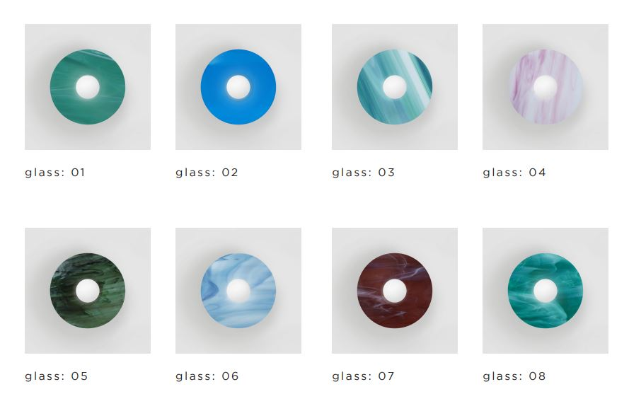 ARETI/DISC AND SPHERE GLASS 04ウォールライト