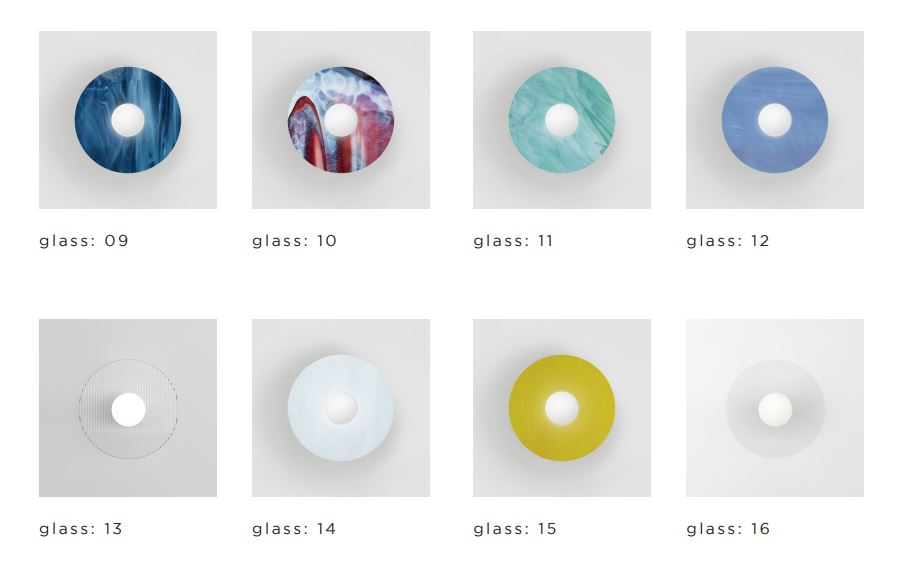 ARETI/DISC AND SPHERE GLASS 10ウォールライト