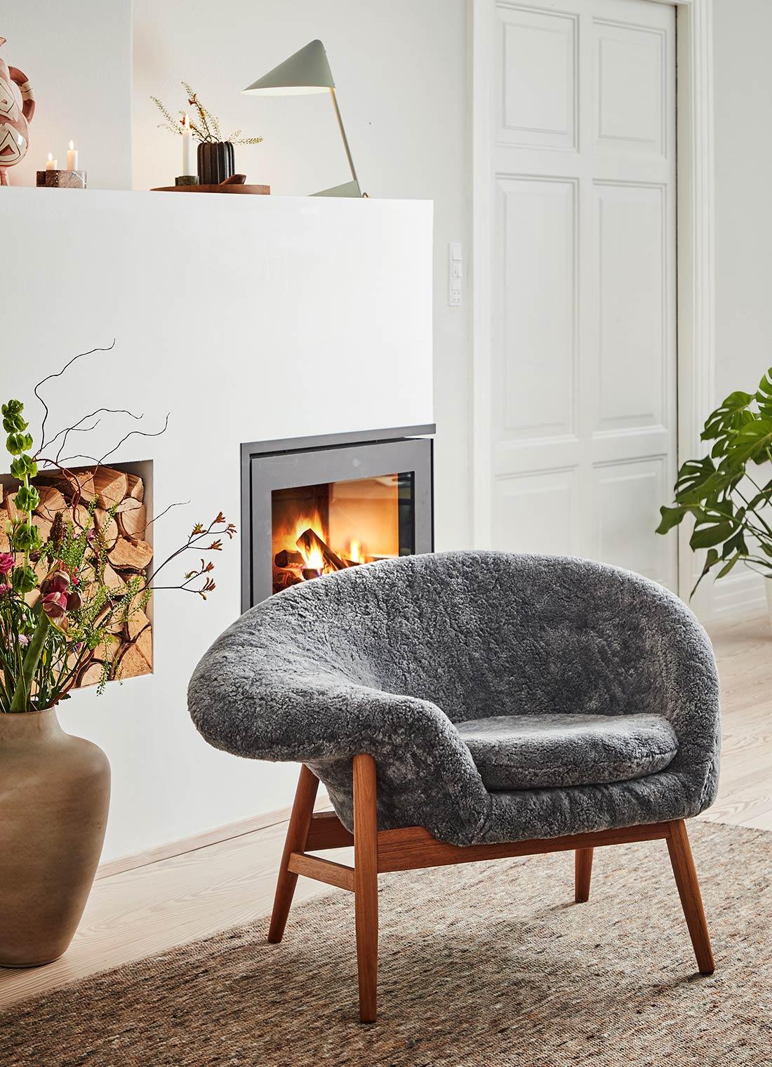 Warm Nordic/ウォームノルディック/Fried Egg Sheepラウンジチェア