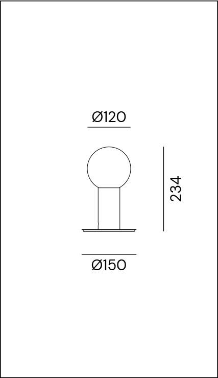 Il Fanale/MOLECOLA 275.10.ONTテーブルライト