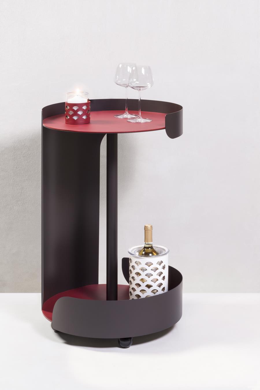 GIOBAGNARA/POLO TROLLEY TWO LEVELS OVALサイドテーブル