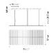 Vibia/Rhythm Horizontal 2122ペンダントライト