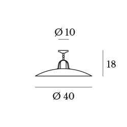 GIBAS/OSTERIA 839/74シーリングライト
