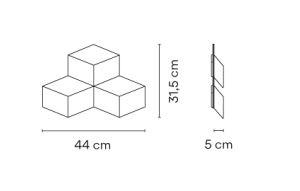 Vibia/Fold Surface 4202ウォールライト