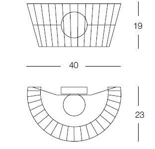 MOROSINI/モロジーニ/Ribbonウォールランプ