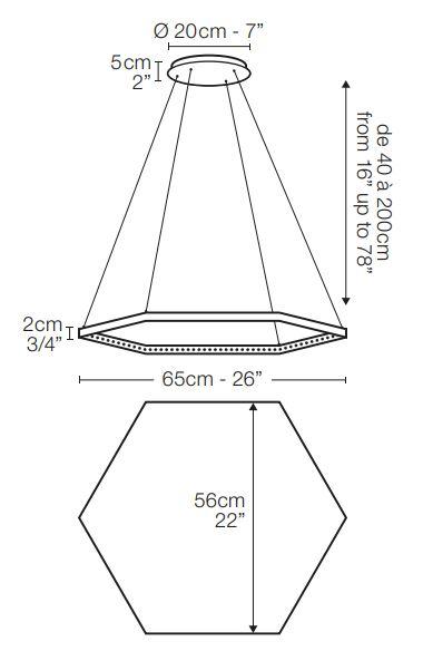 LE DEUN LUMINAIRES/hexa 1ペンダントライト