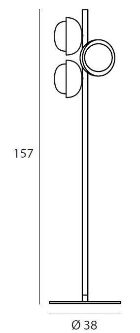 TOOY/MUSE 554.65フロアランプ