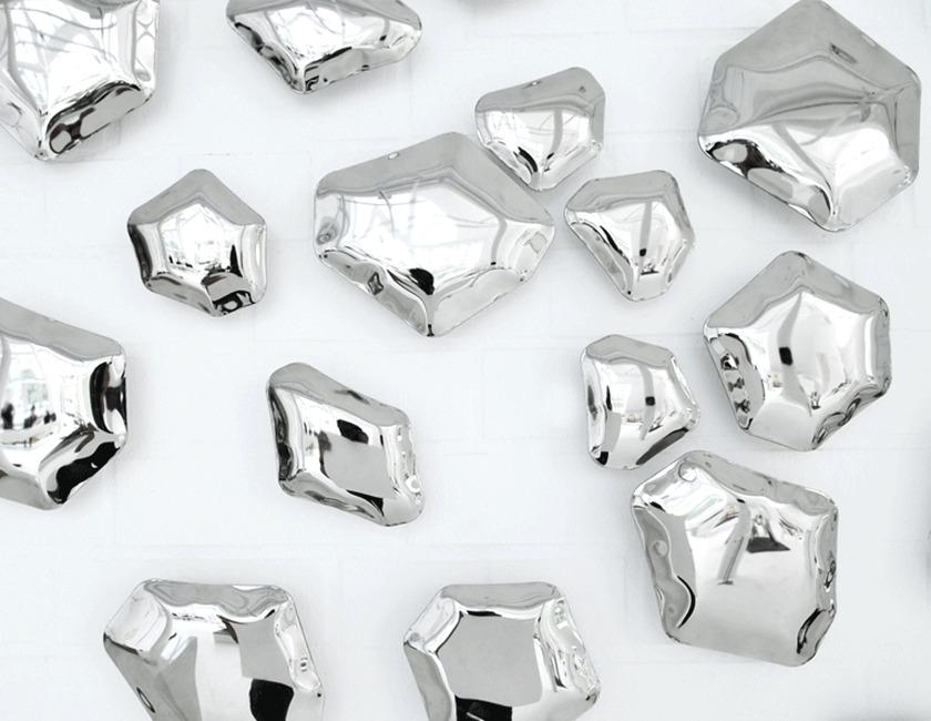 Zieta/KAMYKI  inox polishedウォールデコール