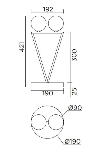 ARETI/Dreiecksrotationテーブルライト