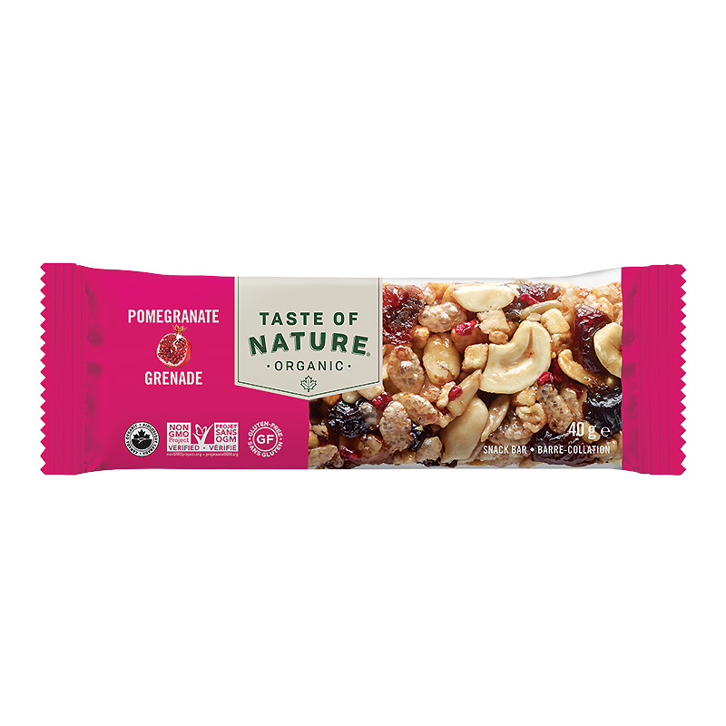Taste of Natureオーガニックフルーツ&ナッツバーザクロ40gx16本