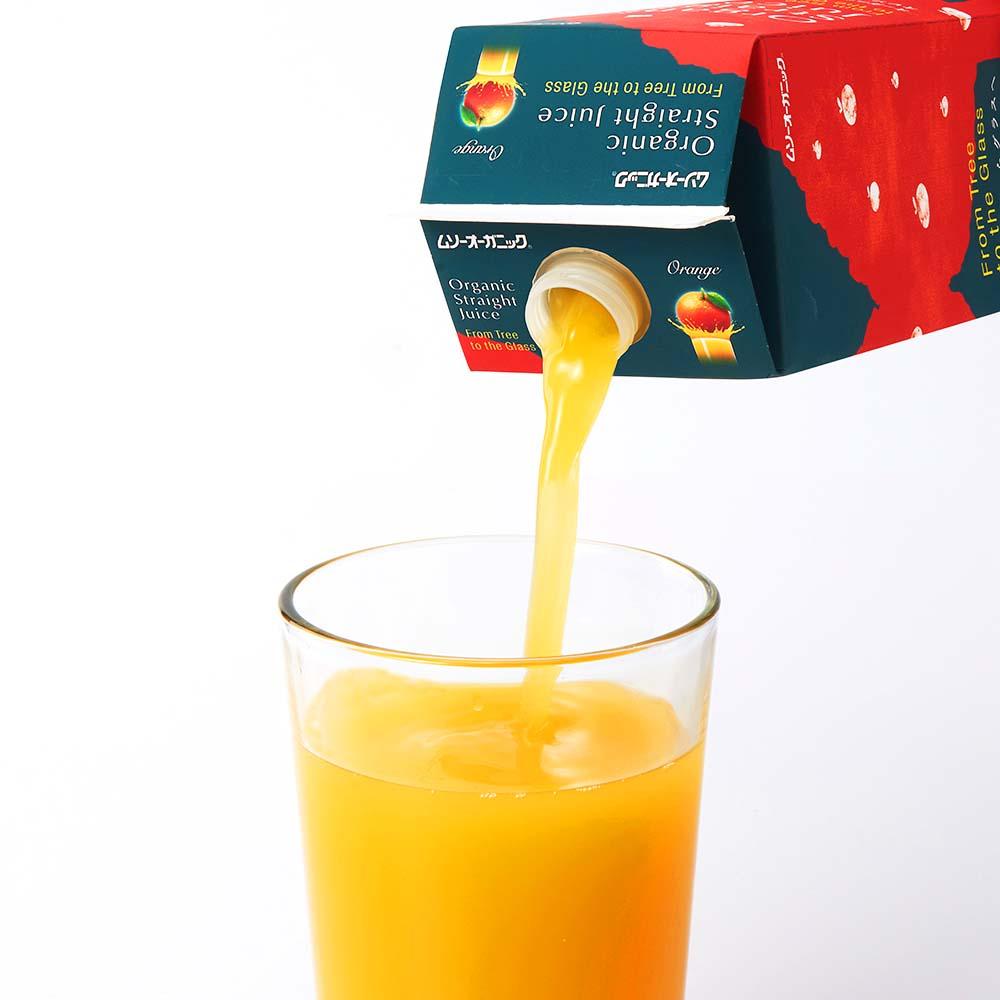 オーガニックストレートジュース オレンジ 1Lx12本