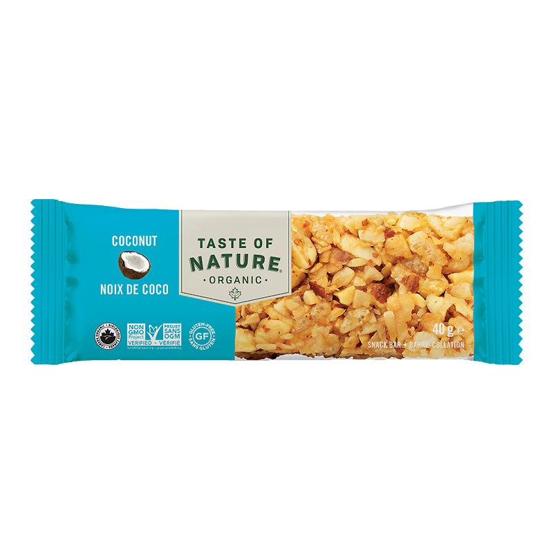 Taste of Natureオーガニックフルーツ&ナッツバーココナッツ40gx128本