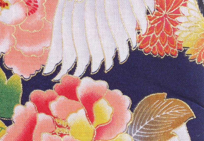 ご祝儀袋 結姫 musubime 白梅(コットン)飛翔(紺) 蝶