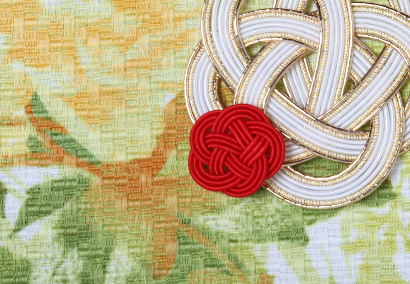 ご祝儀袋 結姫 musubime 青竹(ポリエステル)花壇(緑)