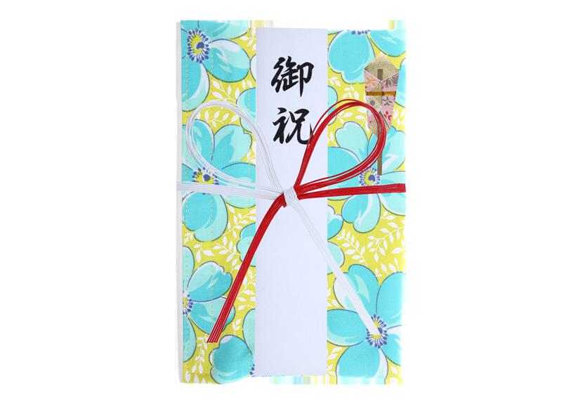 ご祝儀袋 結姫 musubime 白梅(コットン)盛福(緑) 蝶