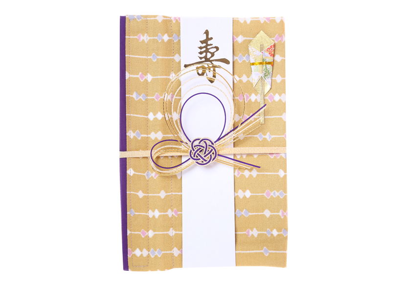 ご祝儀袋 結姫 musubime 白梅(コットン)砂色玉珠