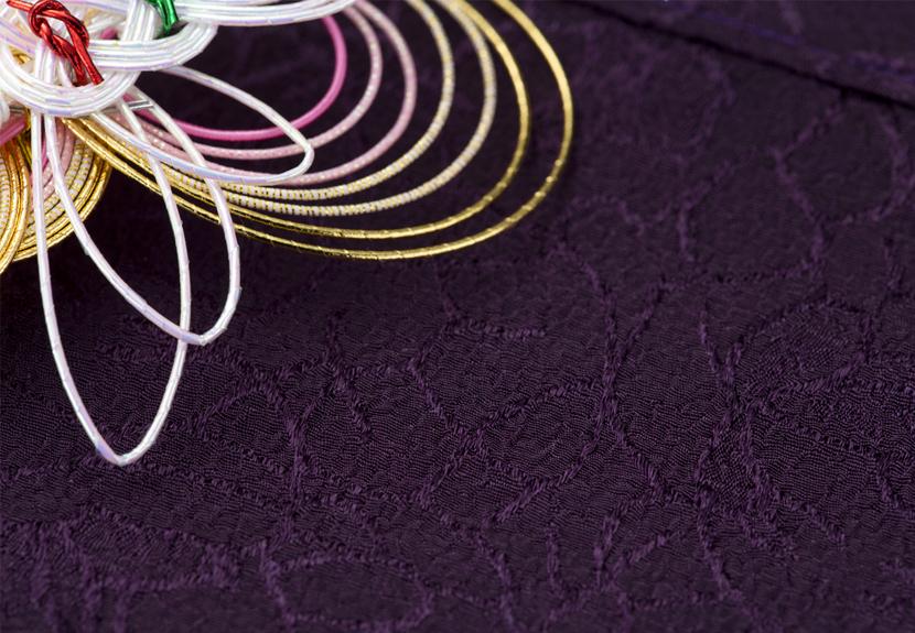 ご祝儀袋 結姫 musubime 青竹(ポリエステル)織柄花紫