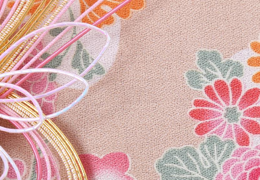 ご祝儀袋 結姫 musubime 白梅(コットン)黄金牡丹