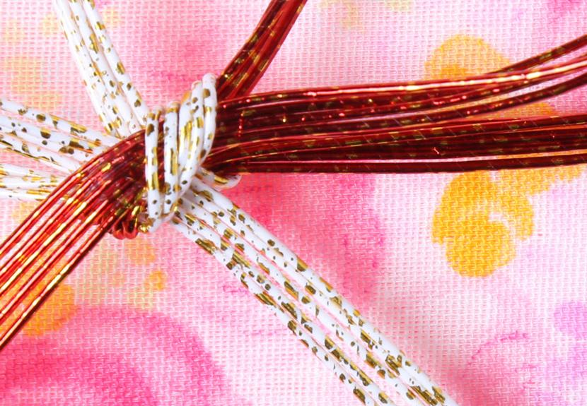 ご祝儀袋 結姫 musubime 白梅(コットン)綿桃薔薇 蝶