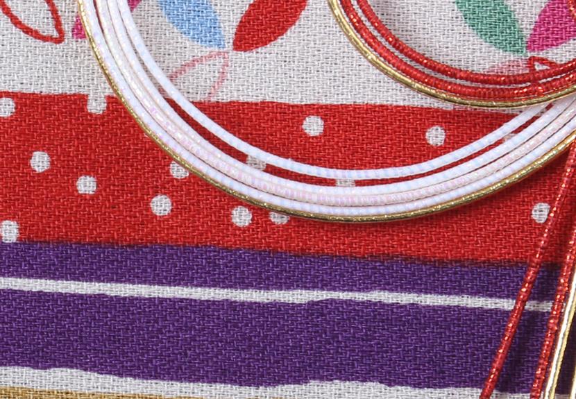 ご祝儀袋 結姫 musubime 白梅(コットン)紫縞和柄