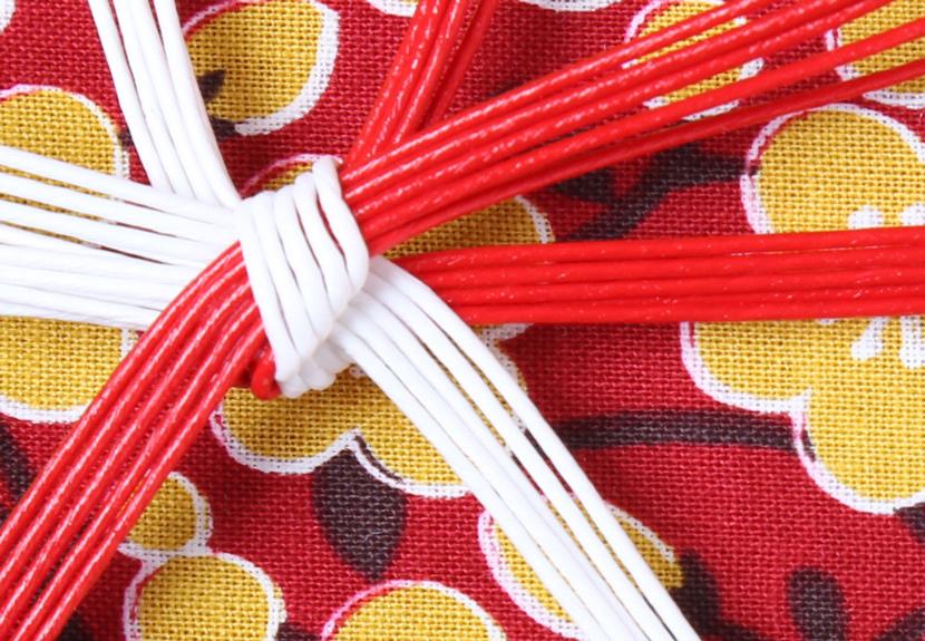 ご祝儀袋 結姫 musubime 白梅(コットン)梅黄赤 蝶