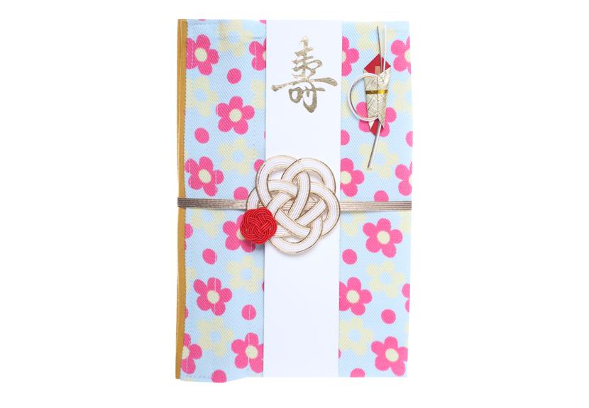 ご祝儀袋 結姫 musubime 青竹(ポリエステル)小花�(水色)