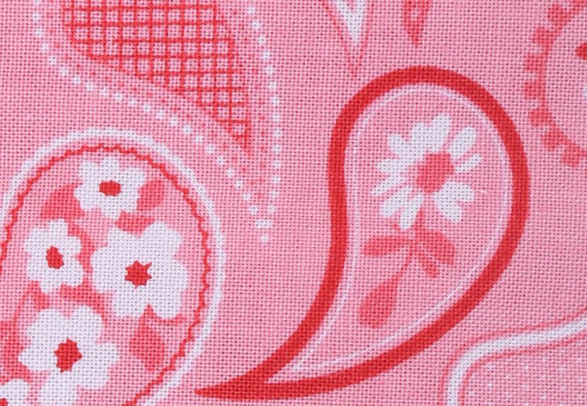 ご祝儀袋 結姫 musubime 白梅(コットン)ペイズリー(赤)
