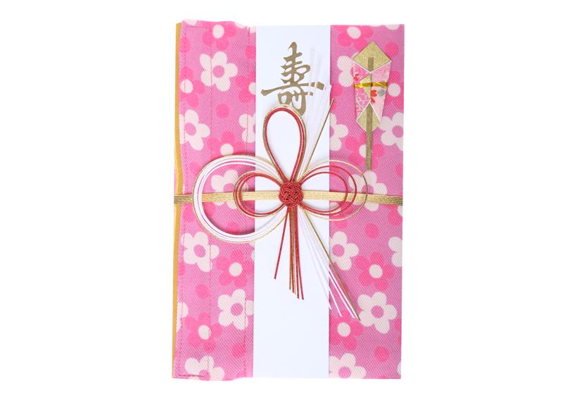 ご祝儀袋 結姫 musubime 青竹(ポリエステル)小花�(ピンク)