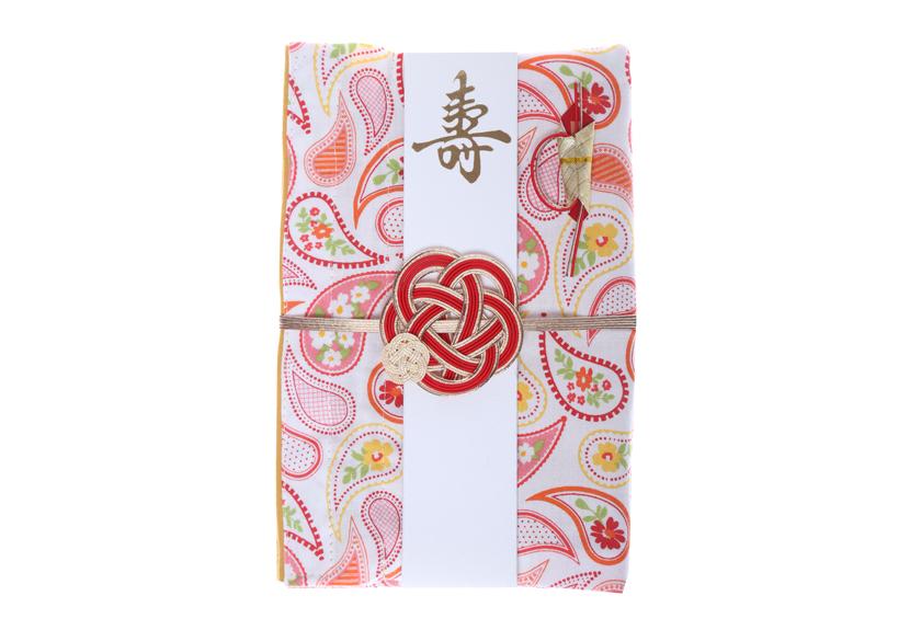 ご祝儀袋 結姫 musubime 白梅(コットン)ペイズリー(白)