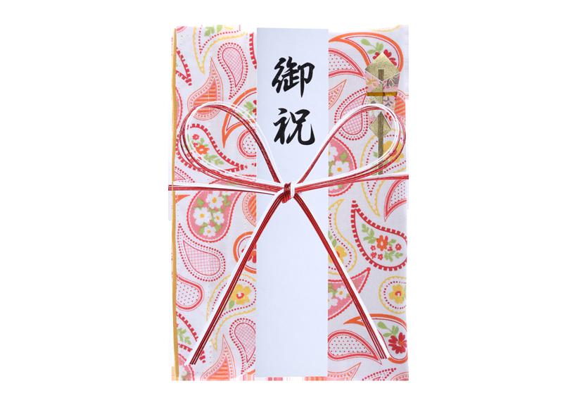 ご祝儀袋 結姫 musubime 白梅(コットン)ペイズリー(白) 蝶