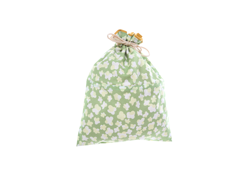 ご祝儀袋 結姫 musubime 白梅(コットン)小花(緑)