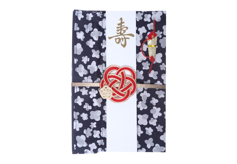 ご祝儀袋 結姫 musubime 白梅(コットン)小花(紺)