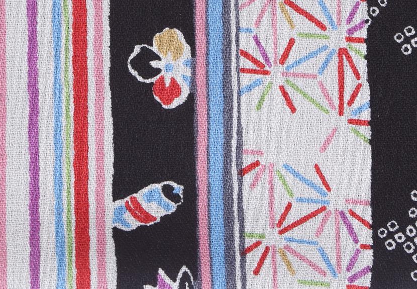 ご祝儀袋 結姫 musubime 白梅(コットン)黒縞和柄