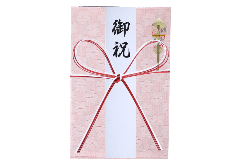 ご祝儀袋 結姫 musubime 高砂(ポリエステル)花畑(ピンク) 蝶