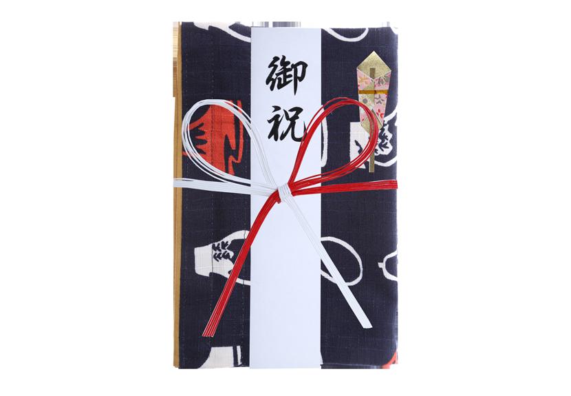 ご祝儀袋 結姫 musubime 白梅(コットン)縁起夢藍 蝶