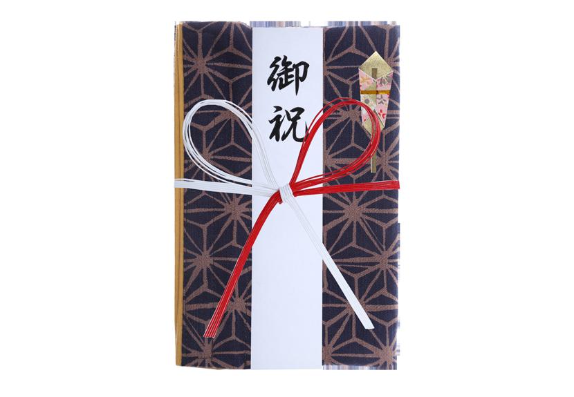ご祝儀袋 結姫 musubime 白梅(コットン)編華紺輝 蝶